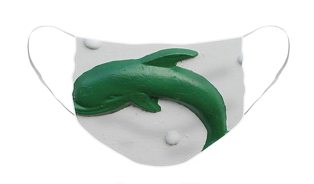 Dolphin Face Mask featuring the photograph Green Dolphin by Rob Hans