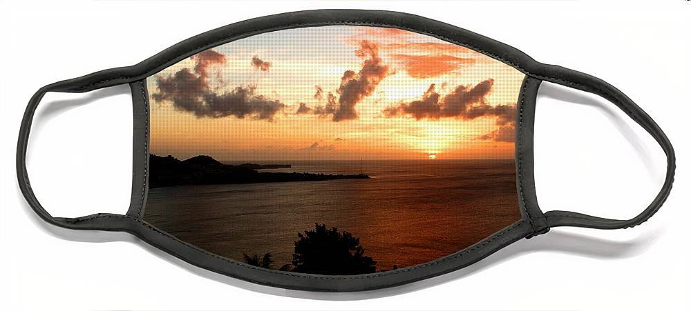 Sunset Face Mask featuring the photograph Grenadian Sunset II by Jean Macaluso