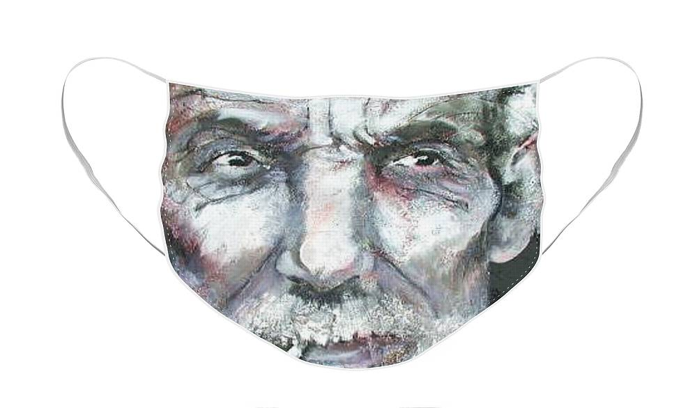 Old Man Face Mask featuring the painting Gumption by Marti Nash