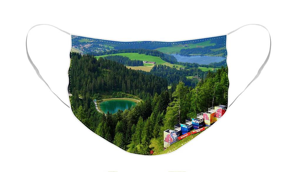Europe Face Mask featuring the photograph Hahnenkamm - Kitzbuehel by Juergen Weiss