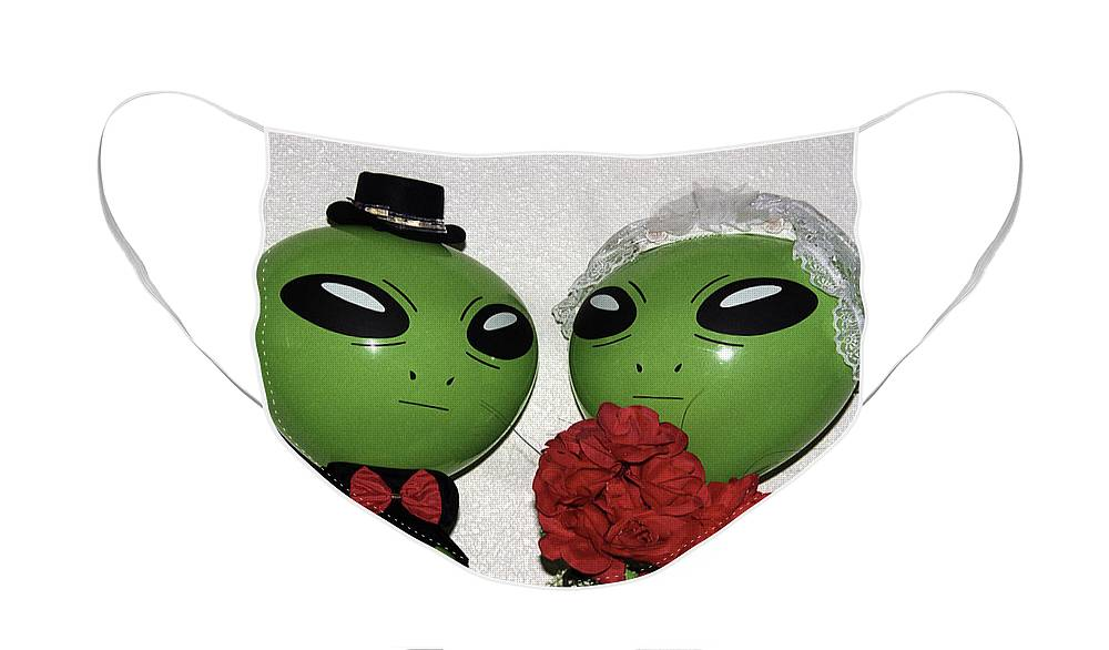 Alien Face Mask featuring the photograph Happily Wedded Aliens by Richard Henne