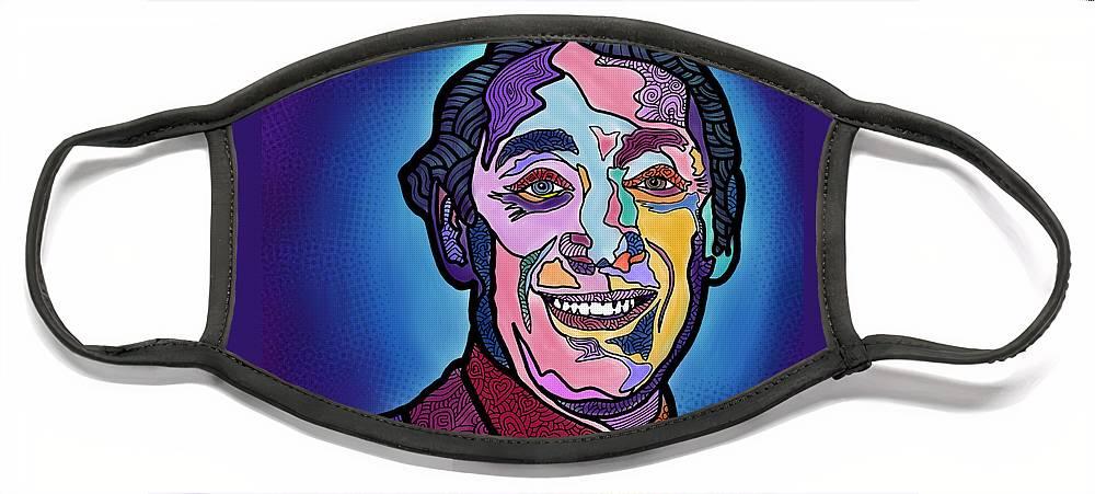Harvey Milk Face Mask featuring the digital art Harvey Milk I Recruit You by Marconi Calindas