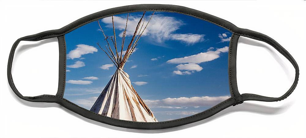 Tipi Face Mask featuring the photograph Hawi Tipi by Todd Klassy