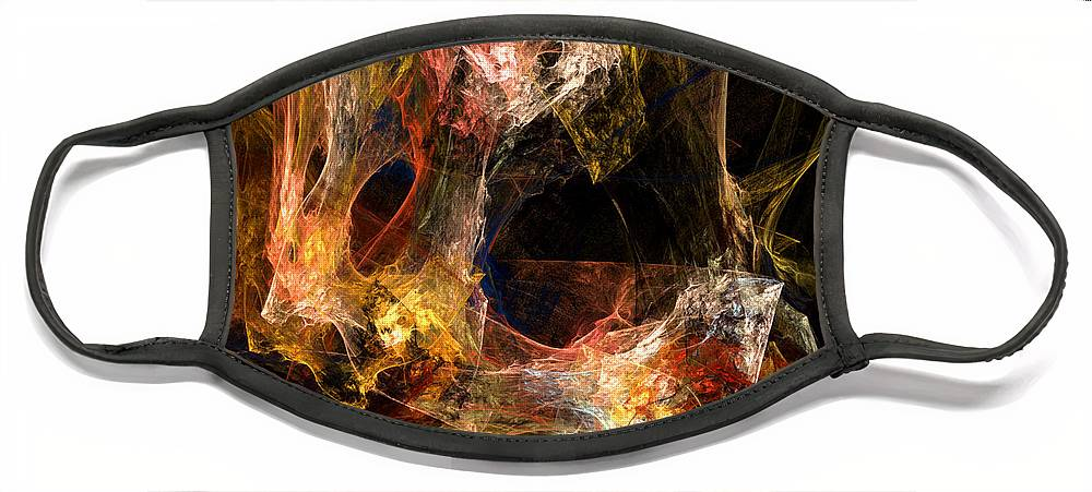 Abstract Face Mask featuring the digital art Holes by Ruth Palmer