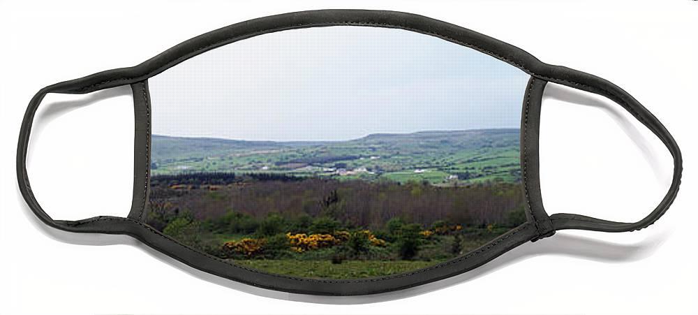 Ireland Face Mask featuring the photograph Horses at Lough Arrow County Sligo Ireland by Teresa Mucha