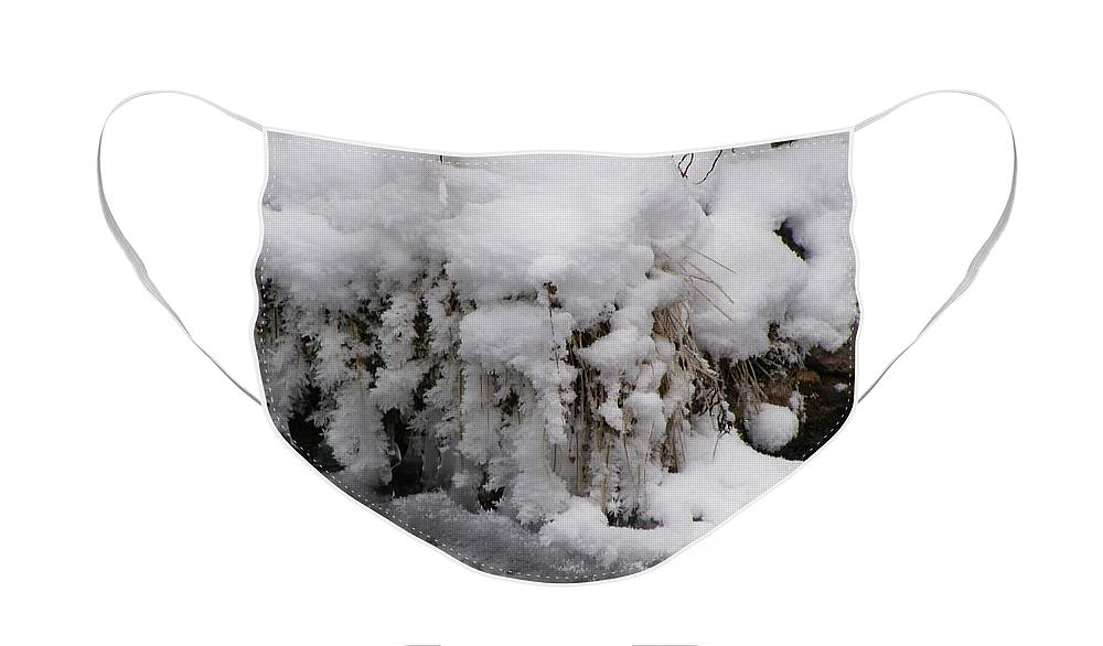 Snow Face Mask featuring the photograph Icy Bank by DeeLon Merritt