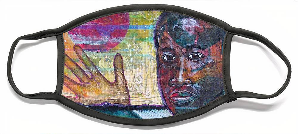 African-american Face Mask featuring the painting If I... by Rollin Kocsis