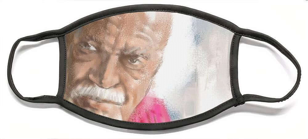 "David Kaparalic ""ili Ili"" Maui Face Mask featuring the digital art Ili Ili by Scott Waters"