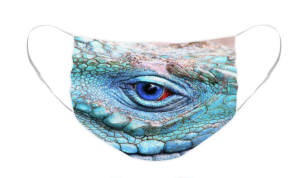 Grand Cayman Blue Iguana Face Masks