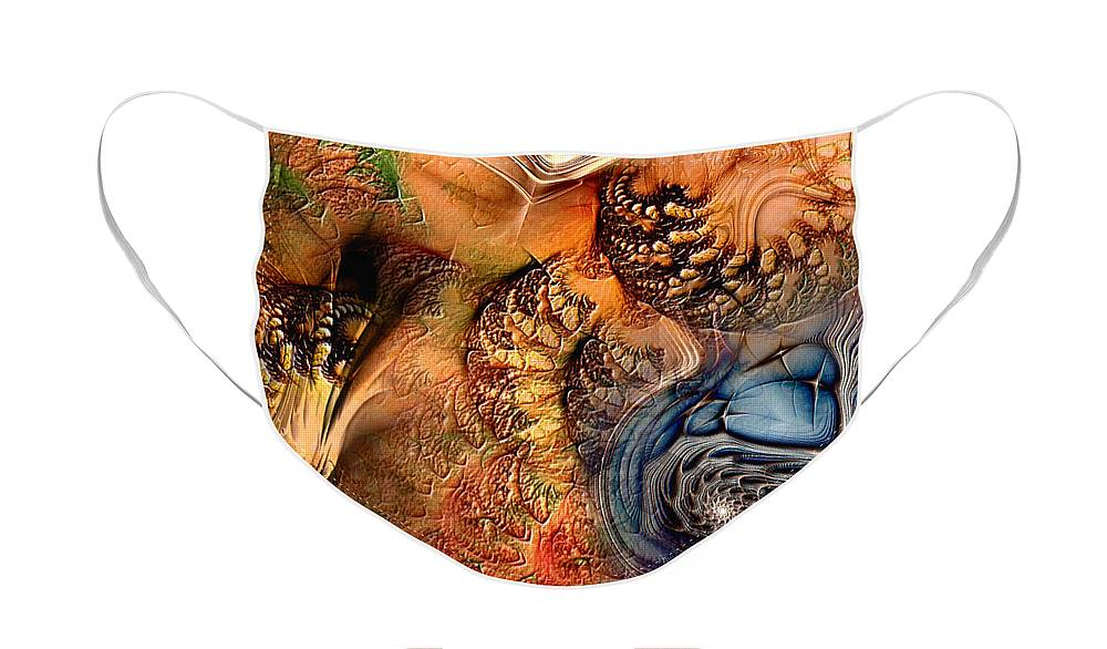 Abstract Face Mask featuring the digital art Incident At Neshabur by Casey Kotas