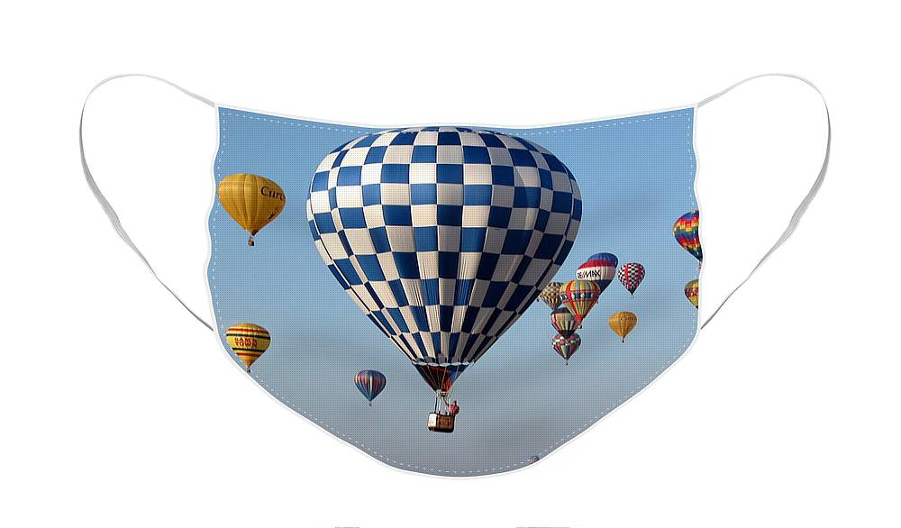 Balloons Face Mask featuring the photograph Incoming by Paul Anderson