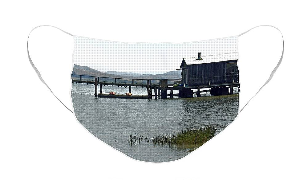 Boat House Face Mask featuring the photograph Inverness Boat House II by Suzanne Gaff
