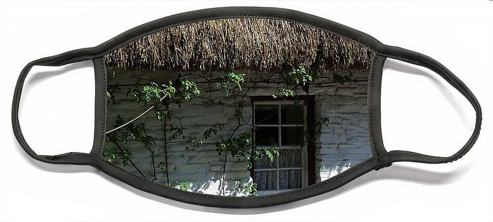 Irish Face Mask featuring the photograph Irish Farm Cottage Window County Cork Ireland by Teresa Mucha