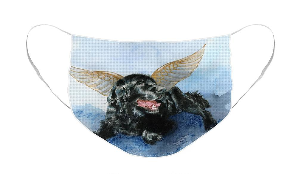 Dog Face Mask featuring the painting Jake Angel by Galen Hazelhofer