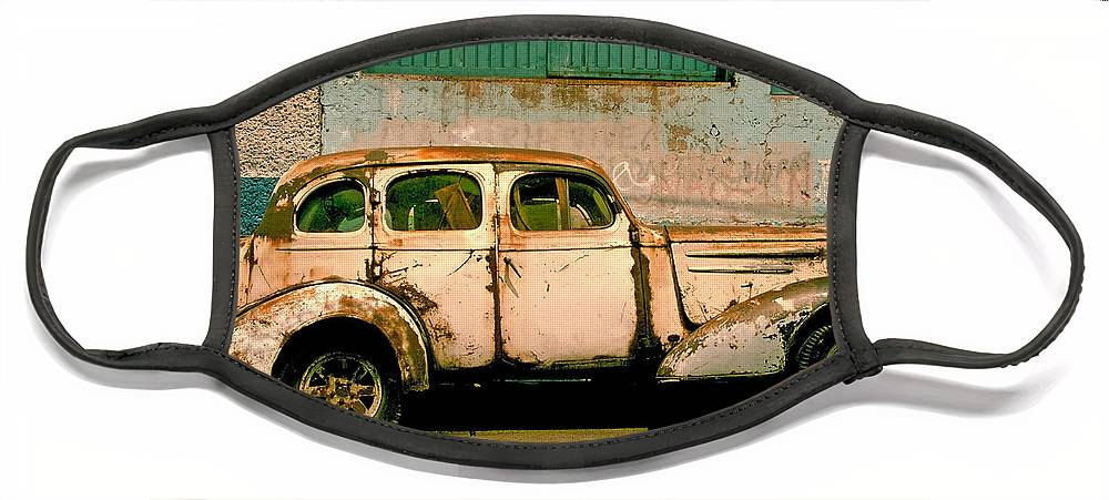Skip Face Mask featuring the photograph Jalopy by Skip Hunt