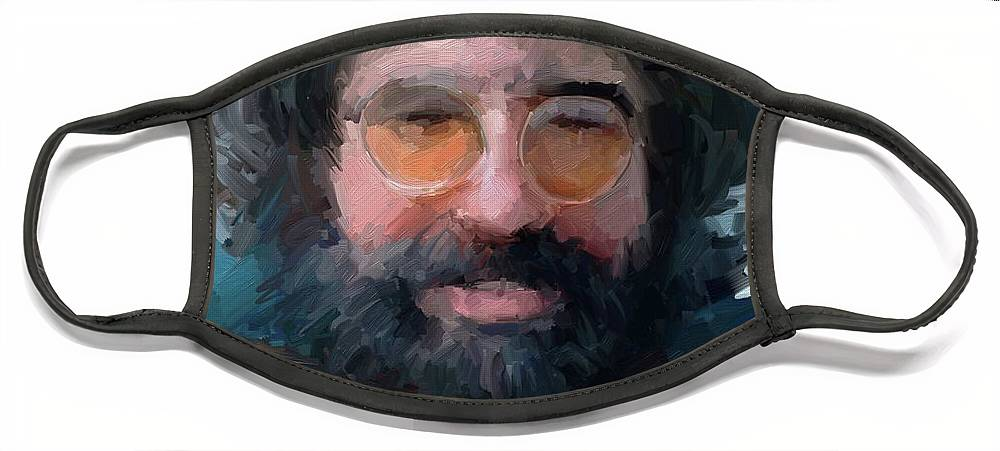 Jerry Face Mask featuring the digital art Jerry by Scott Waters