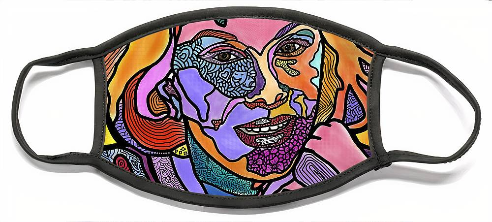 Joan Rivers Face Mask featuring the digital art Joan Rivers Never a Fashole by Marconi Calindas