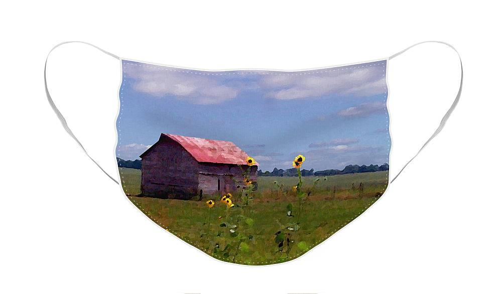 Landscape Face Mask featuring the photograph Kansas Landscape by Steve Karol