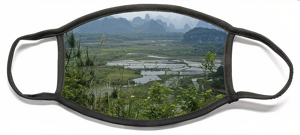 Asia Face Mask featuring the photograph Karst Landscape of Guangxi by Michele Burgess