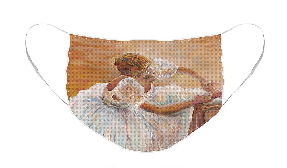 Dancer Face Mask featuring the painting Kaylea by Nadine Rippelmeyer