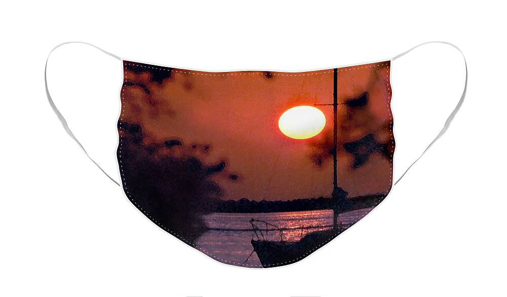 Seascape Face Mask featuring the photograph Key Largo by Steve Karol