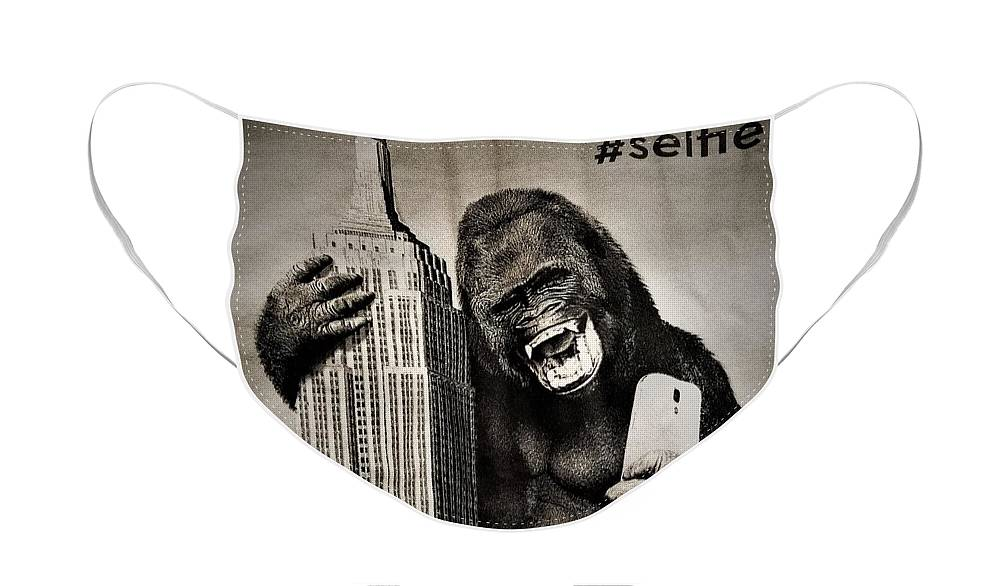 Architecture Face Mask featuring the photograph King Kong Selfie by Rob Hans