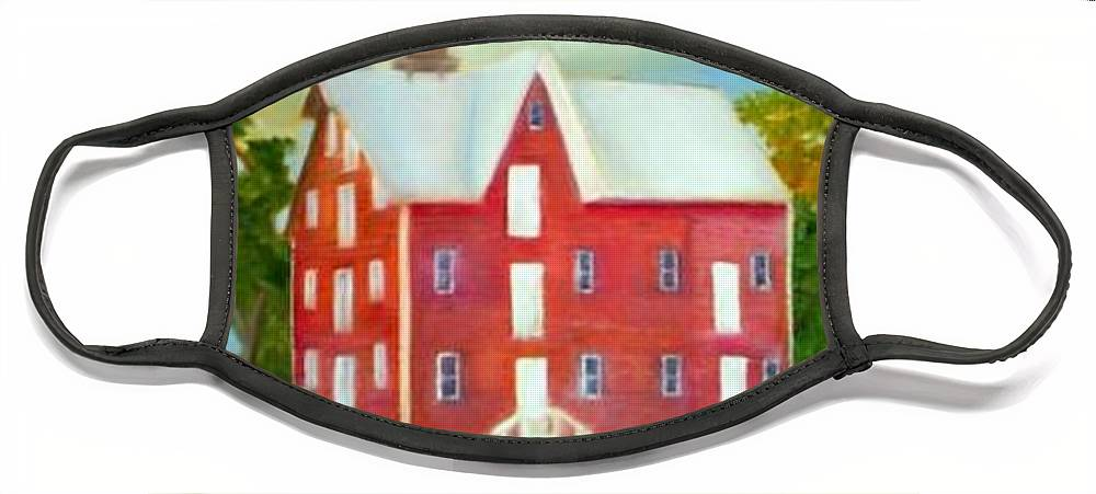 Kirby Mill Face Mask featuring the painting Kirby's Mil by Sheila Mashaw