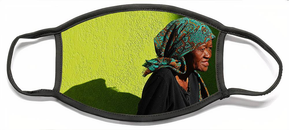Africa Face Mask featuring the photograph Lady in Green by Skip Hunt