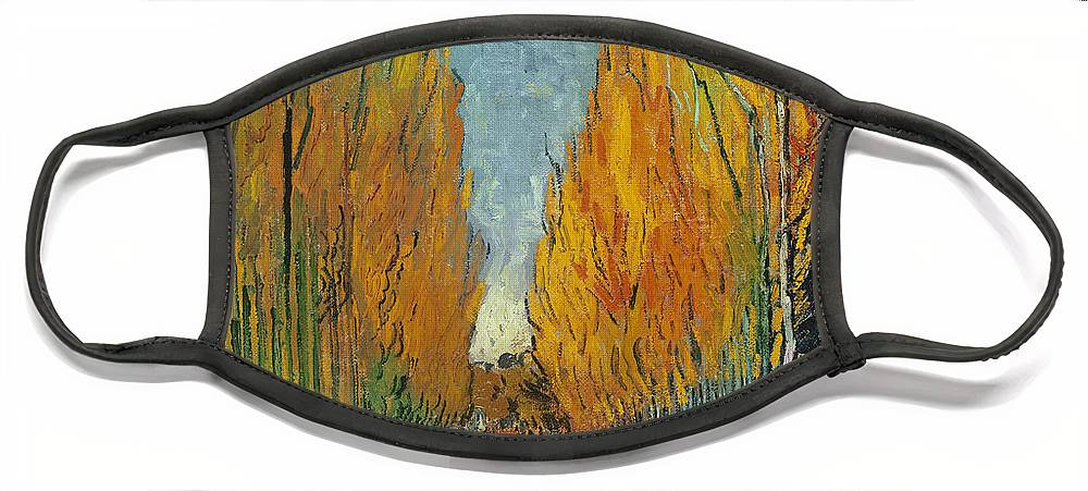 Park Face Mask featuring the painting L'Allee des Alyscamps Arles by Vincent van Gogh