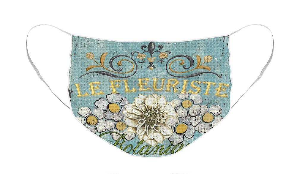 Flowers Face Mask featuring the painting Le Fleuriste de Botanique by Debbie DeWitt