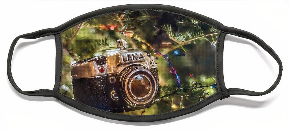 Scott Norris Photography. Christmas Tree Face Mask featuring the photograph Leica Christmas by Scott Norris
