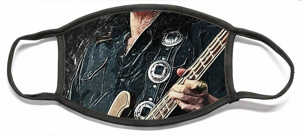 Lemmy Face Mask featuring the digital art Lemmy by Zapista OU