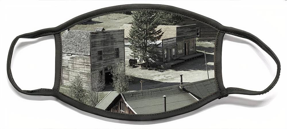 Ghost Towns Face Mask featuring the photograph Life in a Ghost Town by Richard Rizzo
