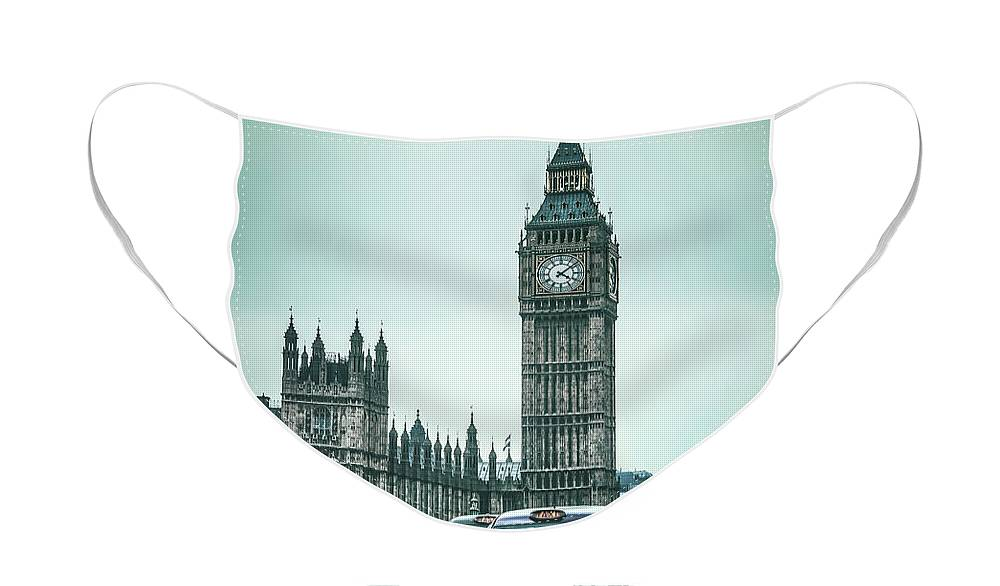 Kremsdorf Face Mask featuring the photograph London Times by Evelina Kremsdorf