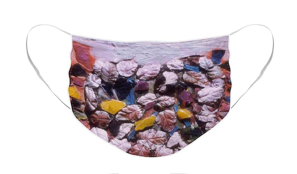 Broken Glass Cement Face Mask featuring the relief Lost Treasures.. by Rooma Mehra