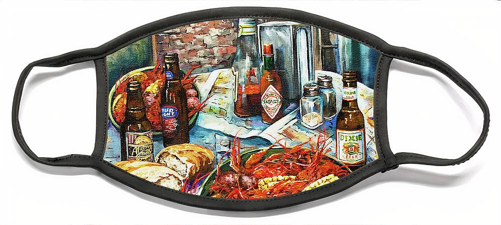 New Orleans Art Face Mask featuring the painting Louisiana Saturday Night by Dianne Parks