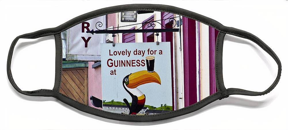 Irish Face Mask featuring the photograph Lovely Day for a Guinness Macroom Ireland by Teresa Mucha