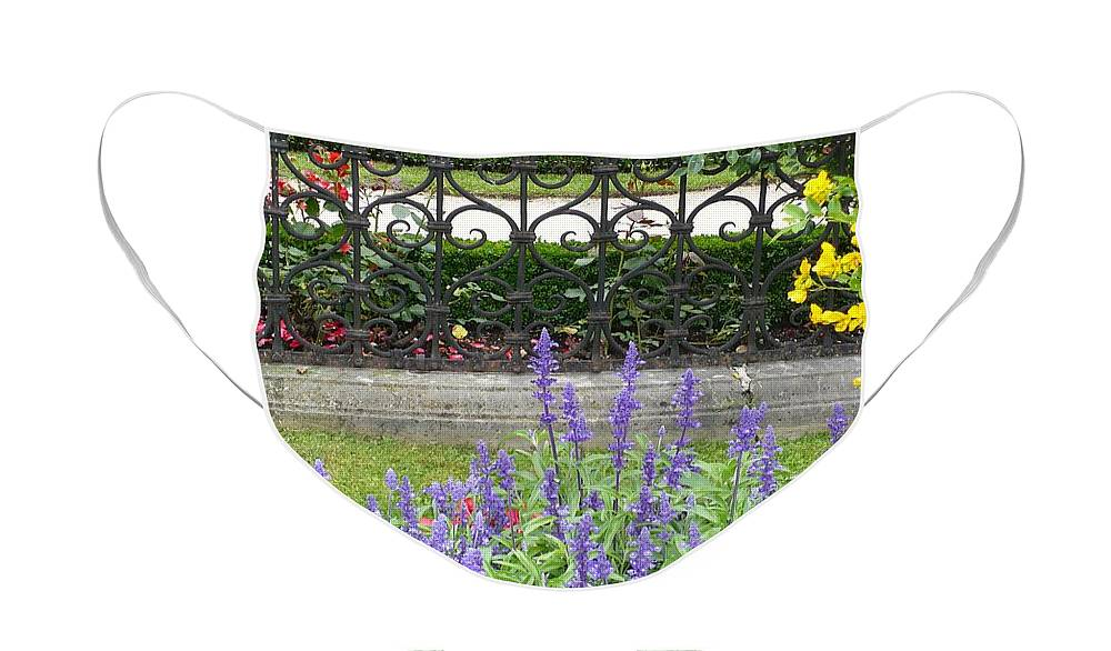 Austria Face Mask featuring the photograph Lovely Mirabell Palace Garden by Carol Groenen