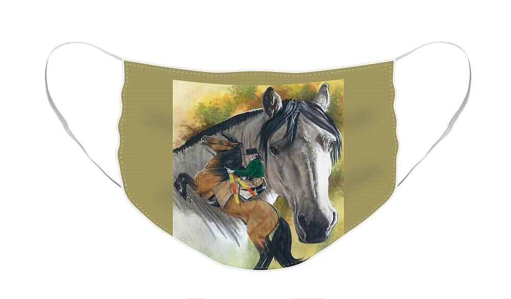 Hoof Stock Face Mask featuring the mixed media Lusitano by Barbara Keith