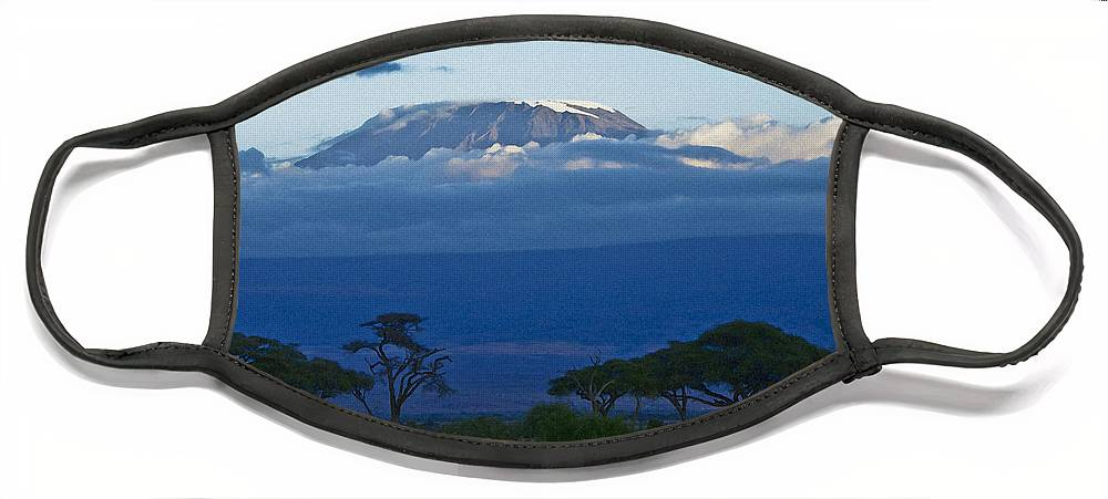 Africa Face Mask featuring the photograph Magnificent Kilimanjaro by Michele Burgess