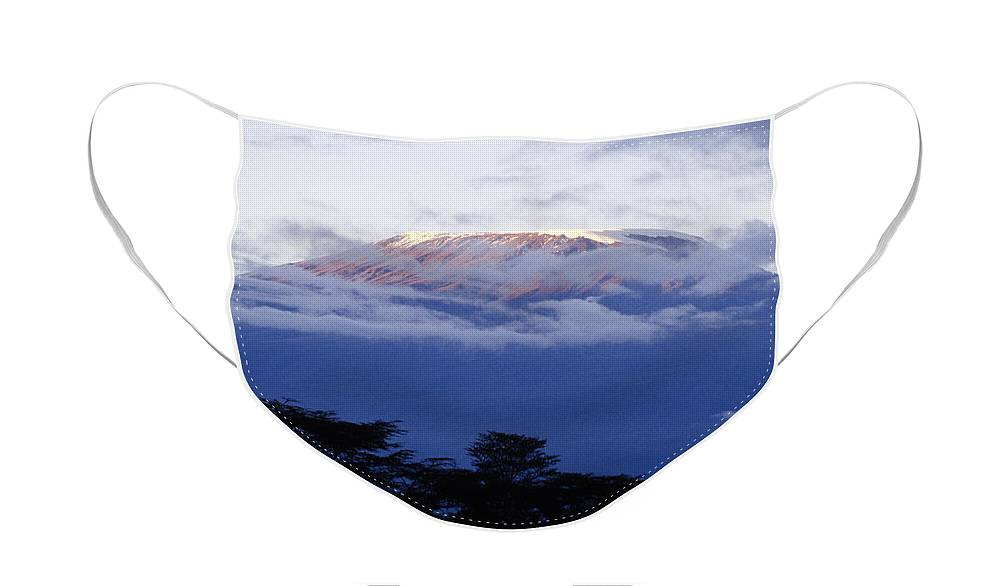 Africa Face Mask featuring the photograph Magnificent Mount Kilimanjaro by Michele Burgess