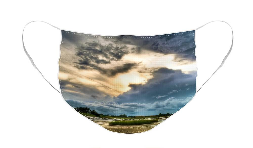 Beach Face Mask featuring the photograph Majestic Sky by Rich Leighton