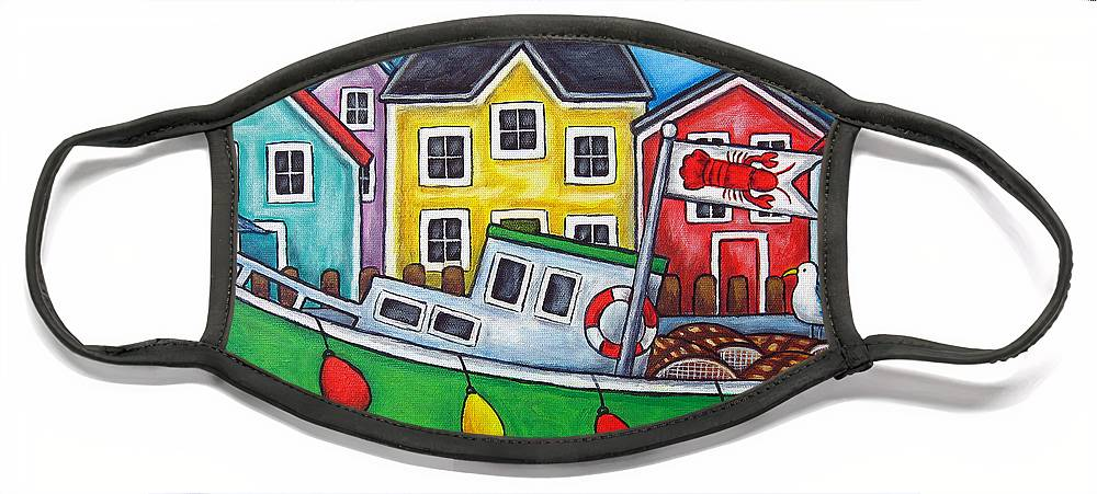 Lisa Lorenz Face Mask featuring the painting Maritime Special by Lisa Lorenz