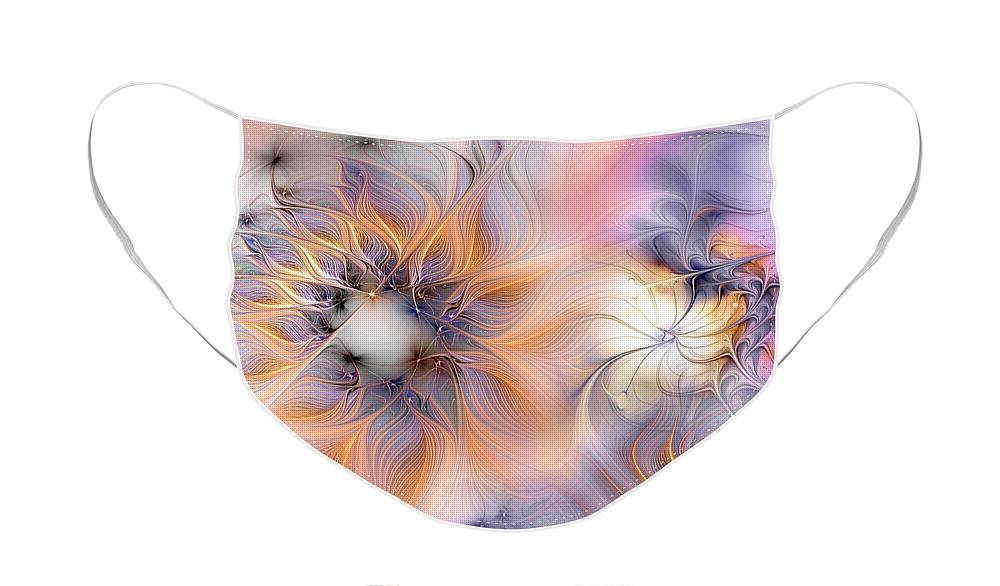 Abstract Face Mask featuring the digital art Marvel by Casey Kotas