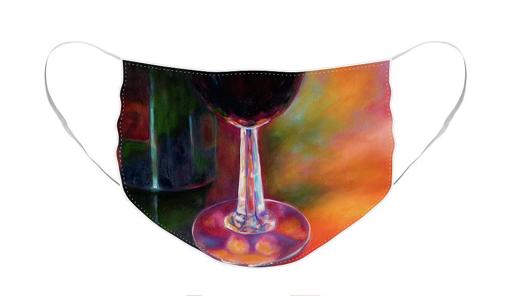 Oil Face Mask featuring the painting Merlot by Shannon Grissom