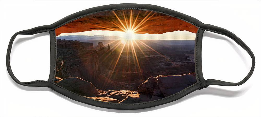 Mesa Glow Face Mask featuring the photograph Mesa Glow by Chad Dutson
