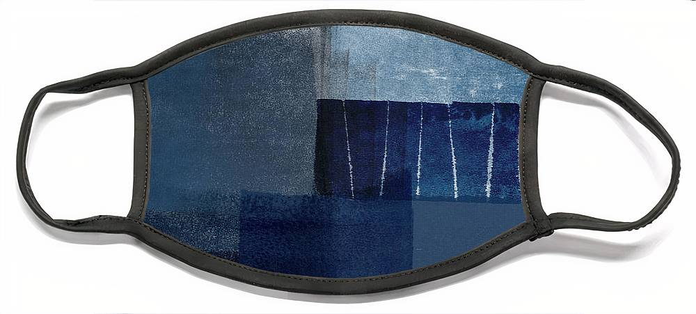 Blue Face Mask featuring the mixed media Mestro 1- Abstract Art by Linda Woods by Linda Woods