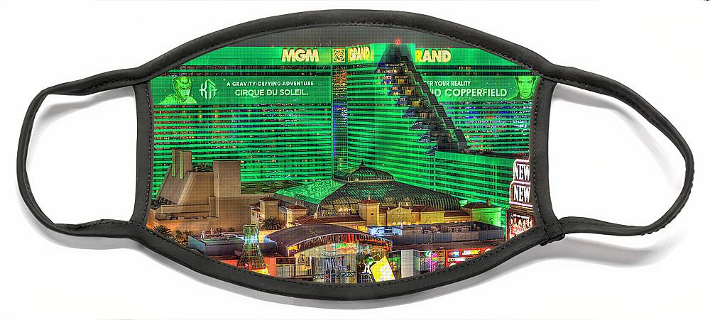 Mgm Grand Face Mask featuring the photograph MGM Grand Las Vegas by Nicholas Grunas