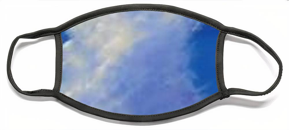 Clouds Face Mask featuring the painting Minor Earth Major Sky by Hunter Jay