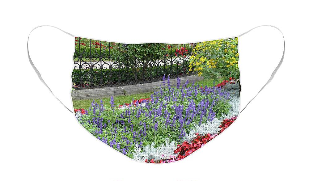 Austria Face Mask featuring the photograph Mirabell Palace Garden by Carol Groenen